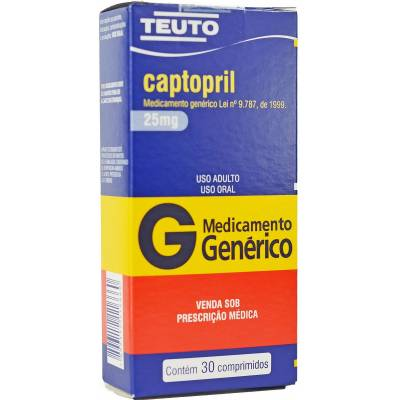 CAPTOPRIL TEUTO 25MG